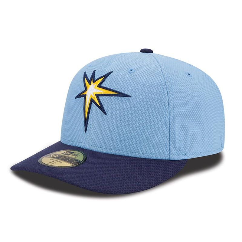 official photos c9537 fe315 Tampa Bay Rays New Era Road Diamond Era Low Profile 59FIFTY Fitted Hat -  Navy Light Blue