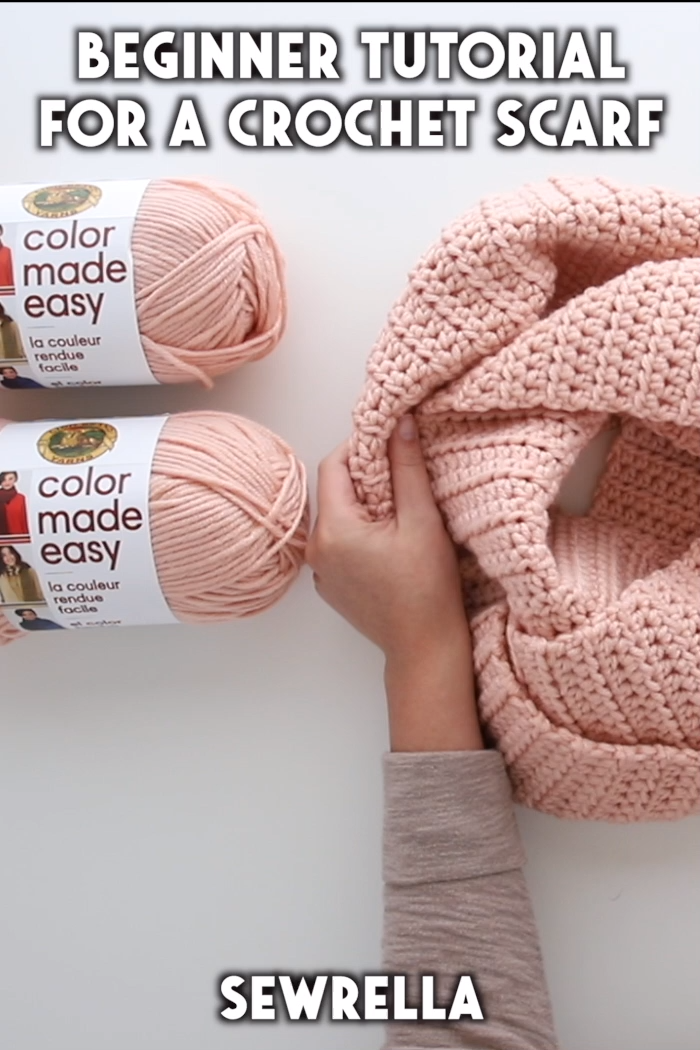 How to Crochet a Scarf - free beginner tutorial & pattern