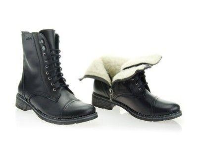 Stellbuty Sztyblety Workery Na Jesien Zime 36 41 6427211119 Oficjalne Archiwum Allegro Combat Boots Boots Shoes