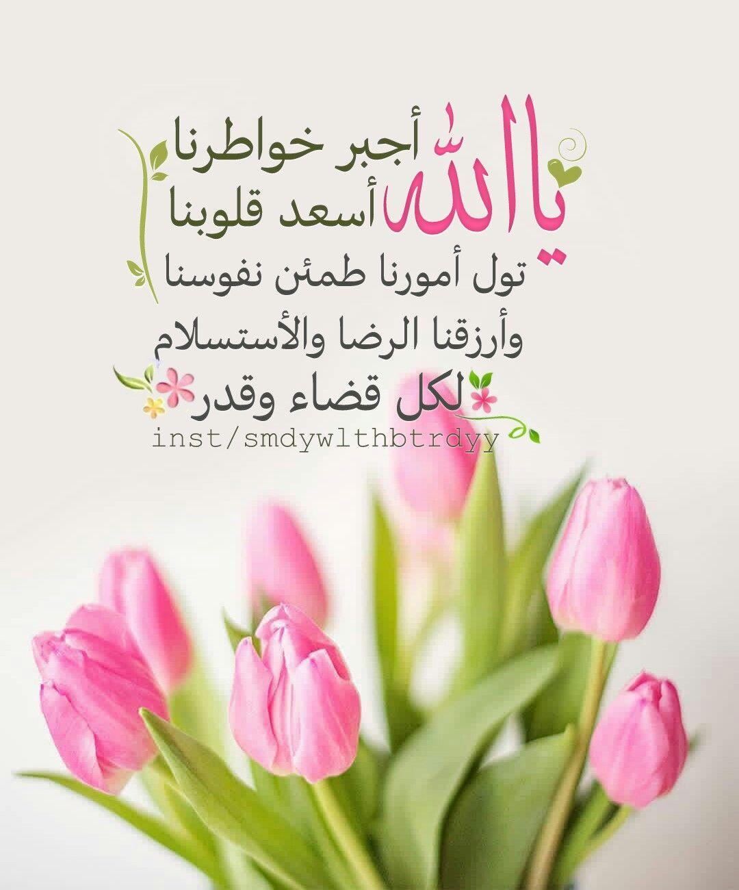 يا الله اجبر خواطرنا أسعد قلوبنا تولا أمورنا طمئن نفوسنا ارزقنا الرضا والأستسلام بالقضاء والقدر Islamic Pictures Quran Quotes Friday Messages