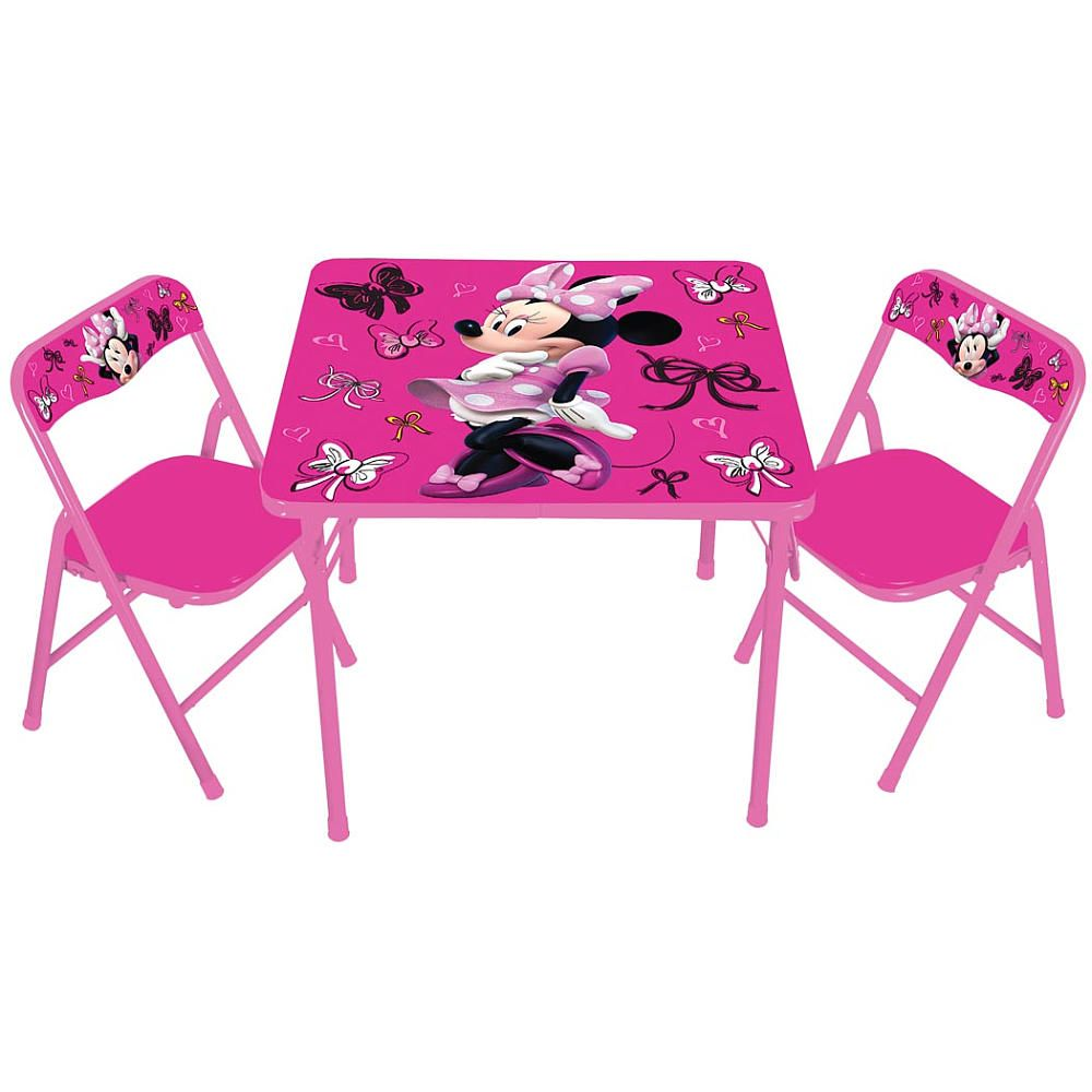 Kids Only Disney Minnie Mouse Activity Table And Chair Set