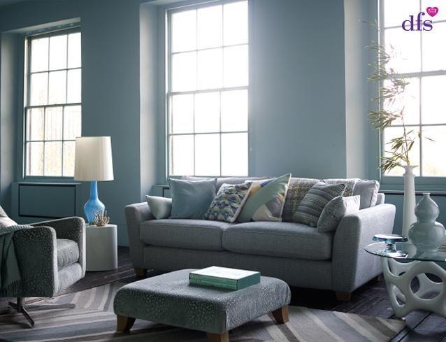 Sophia 3 Seater Sofa I Blue I DFS I House Beautiful Collection I Http:/