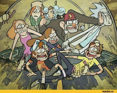 Gravity falls and Rick and morty