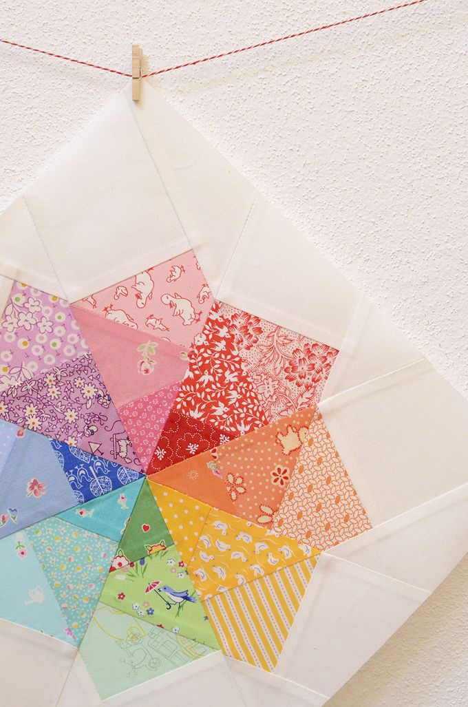 Dresden Plate Mal.Rainbow Spinning Pinwheel Quilting Mini Quilts Quilts