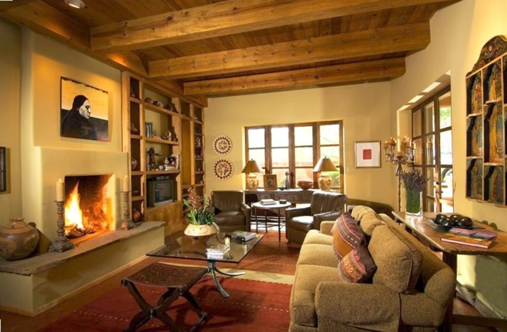 Main House Living Room Reflecting Southwest Warmth and ...