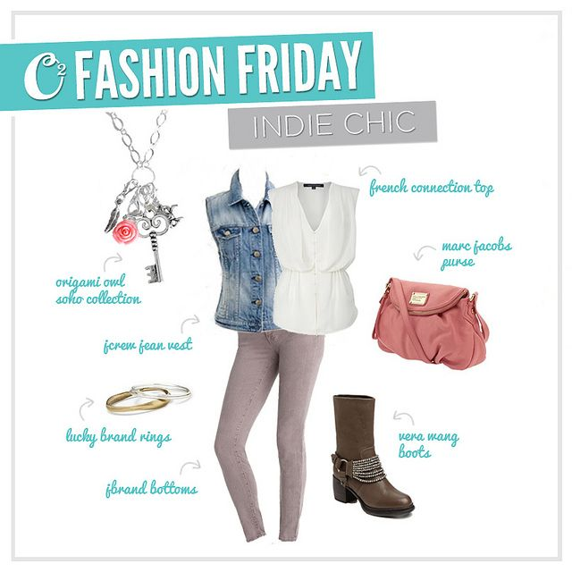 Indie Chic and loving it! The Flat Oval link chain is my favorite along w/ the many other dangles Origami Owl has!