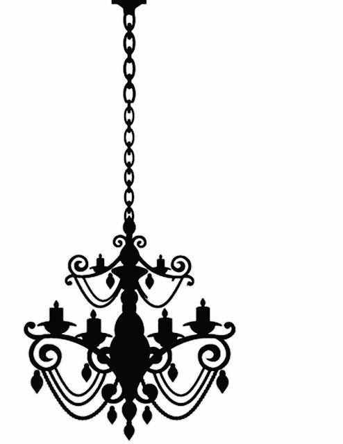 Doodlecraft: Freebies Week: Chandelier Silhouettes! | Stencils ...