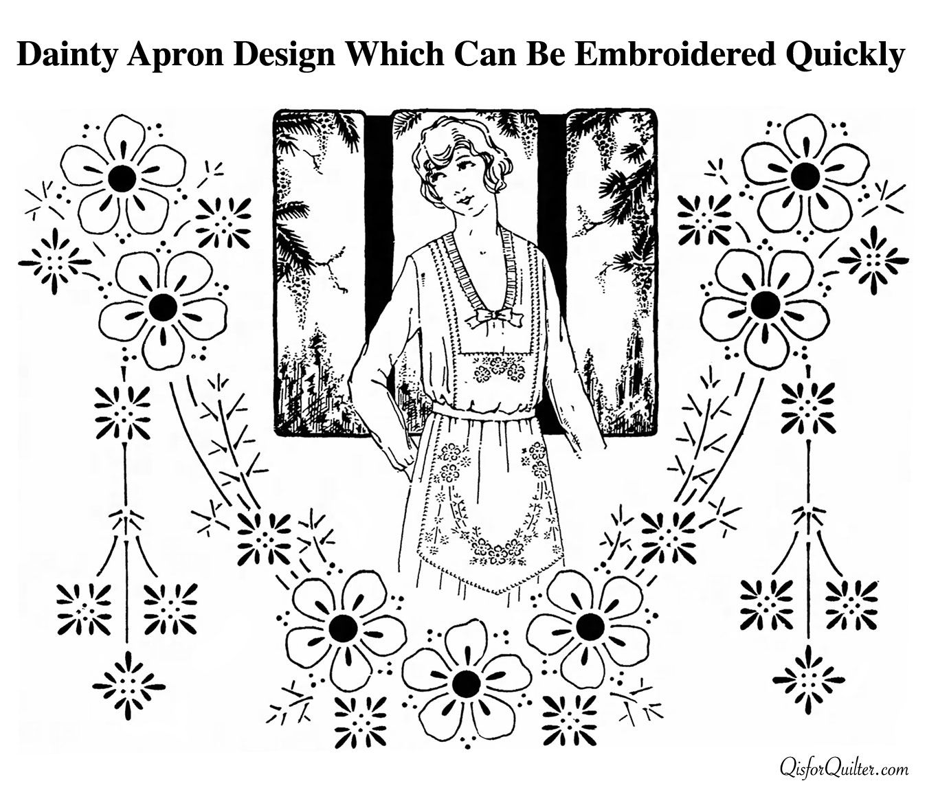 Use toweling or any material of a medium quality for this apron use toweling or any material of a medium quality for this apron transfer the design to the lower part of the apron then turn the pattern upside d bankloansurffo Gallery