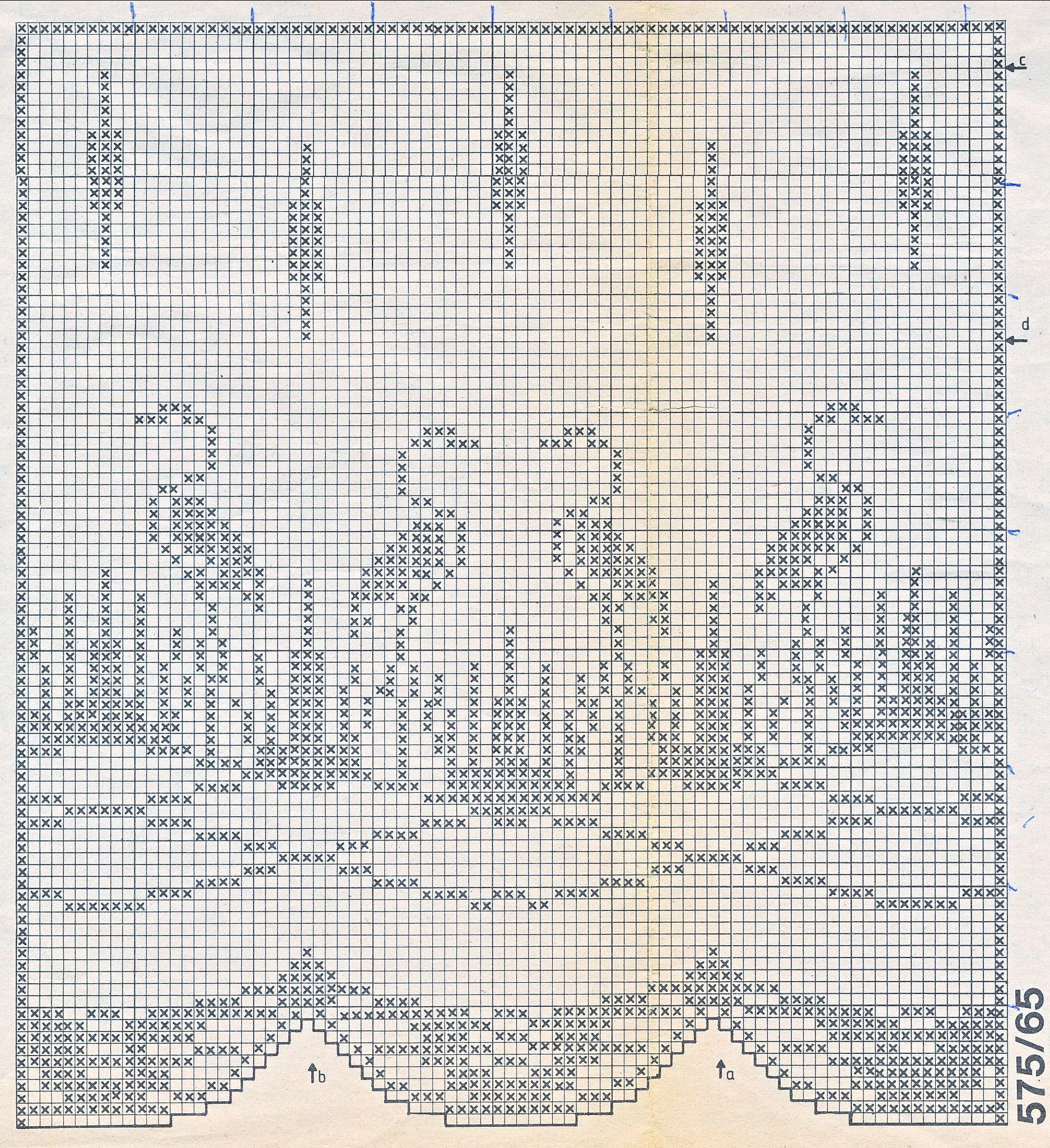 filet gordijn reigers gehaakte gordijnen gehaakte napperonnen gehaakte vogels filethaakwerk patronen haken