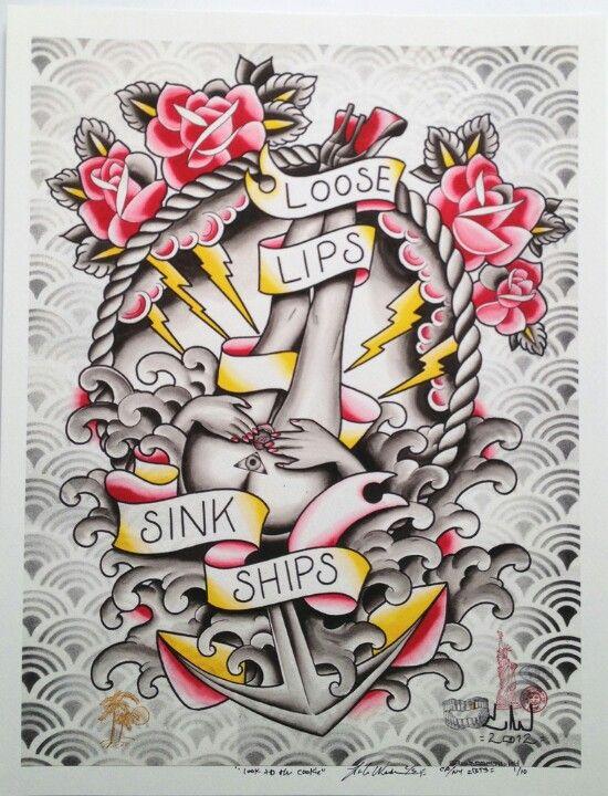 Loose lips sink ships tattoo