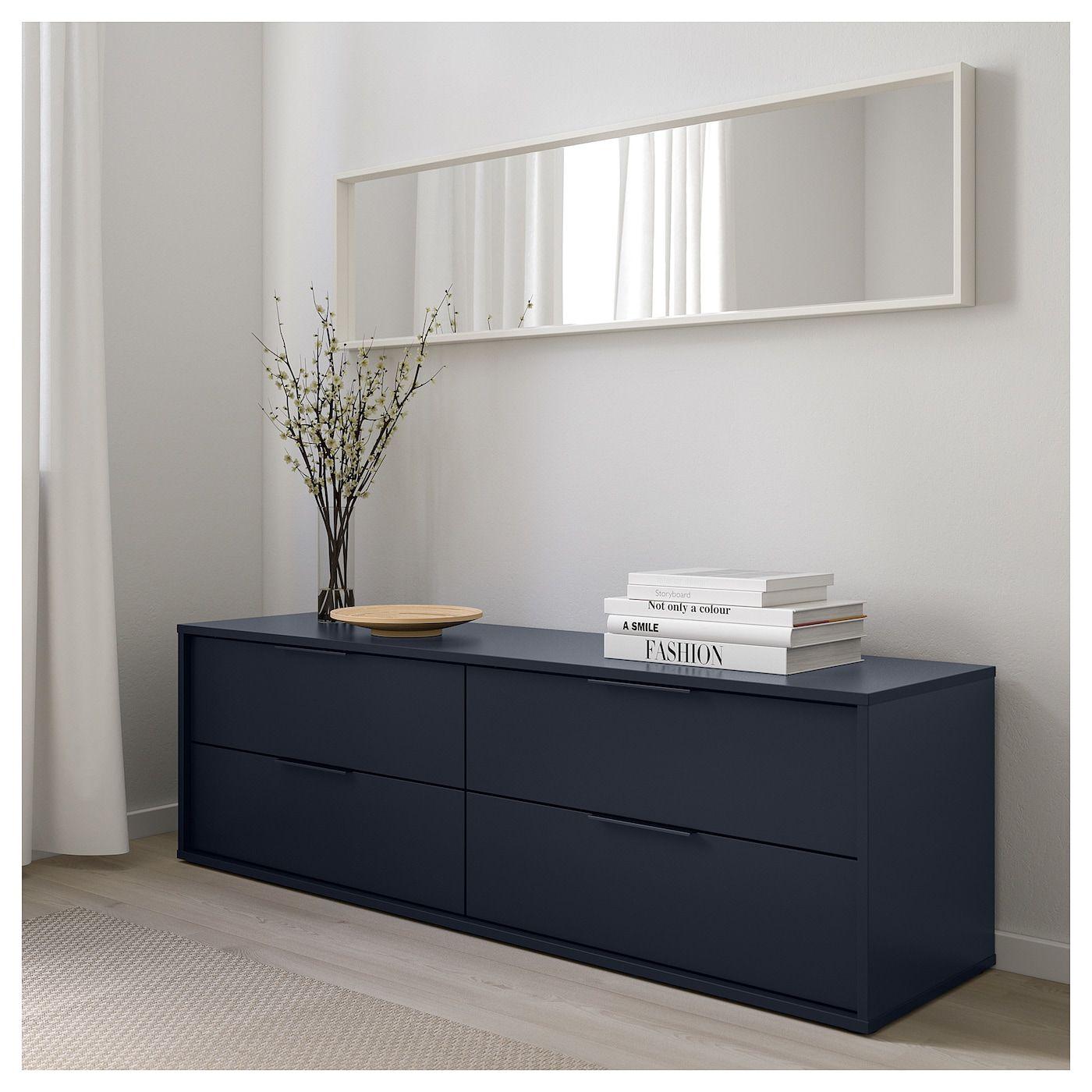 Nordmela Kommode Mit 4 Schubladen Schwarzblau Ikea Deutschland 4 Drawer Dresser Dresser Drawers Ikea
