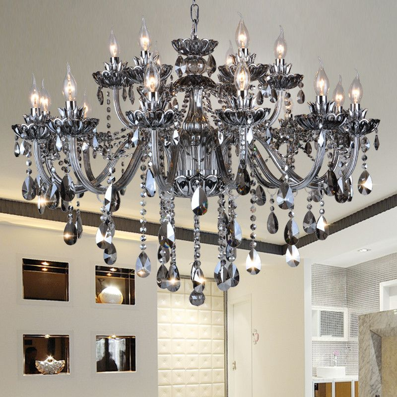 High Quality Smoked K9 Crystal Chandelier Re Chandeliers Light Res De Cristal Chande Item