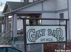 Gay Bar in Gay, Michigan: