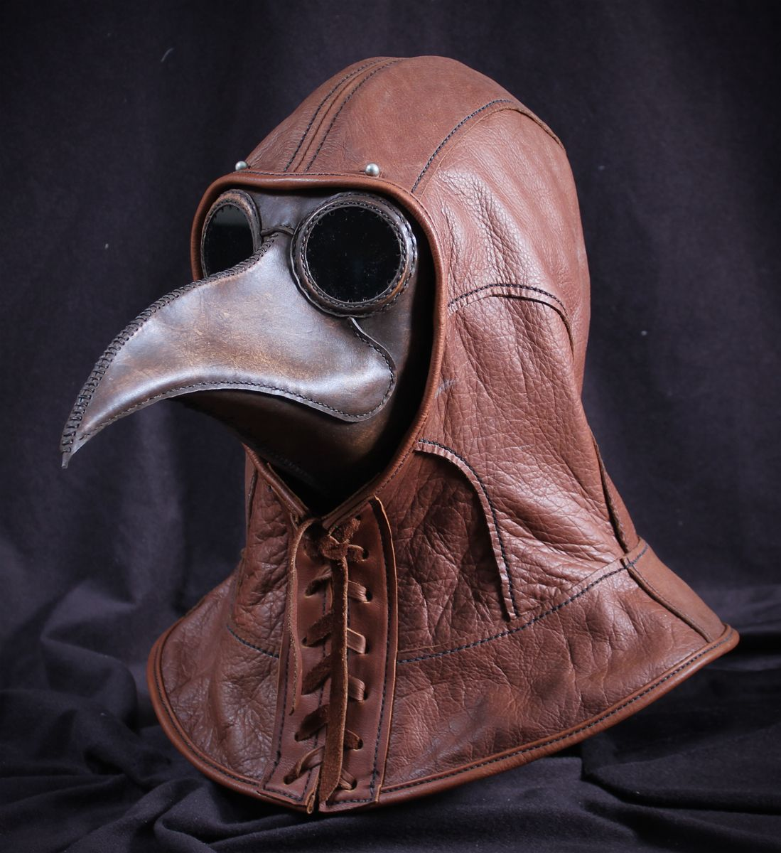 Maximus-w-leather-hood.jpg | Plague doctor mask, Doctor mask ...