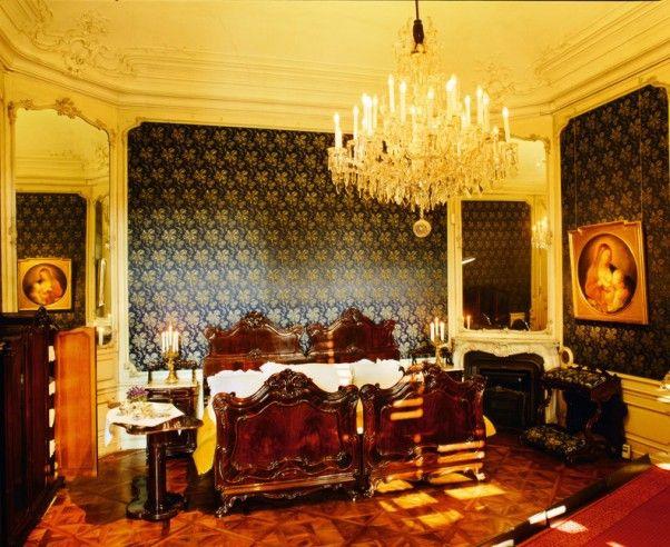Dieses Gemach diente als gemeinsames Schlafzimmer für das - schlafzimmer queen