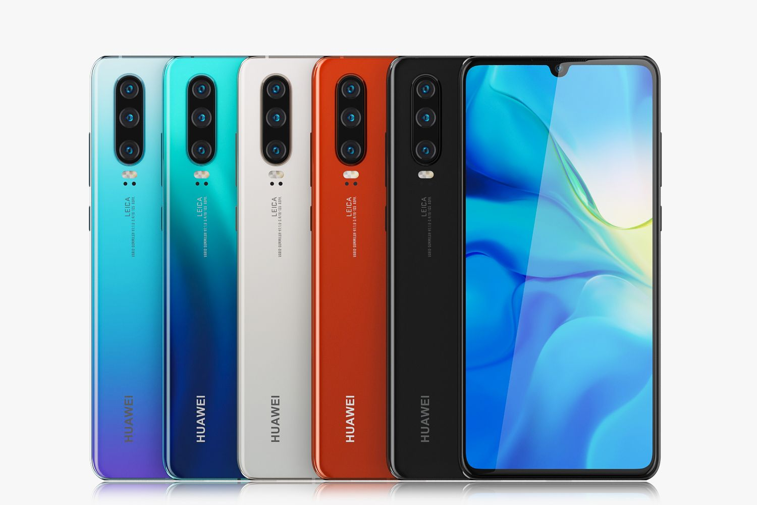 Huawei P30 And P30 Pro Collection All The Colors Huawei Cinema 4d