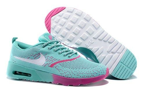super popular 58723 2bc5b 2015 Nikes Air Max Thea Flyknit green rose women running shoes