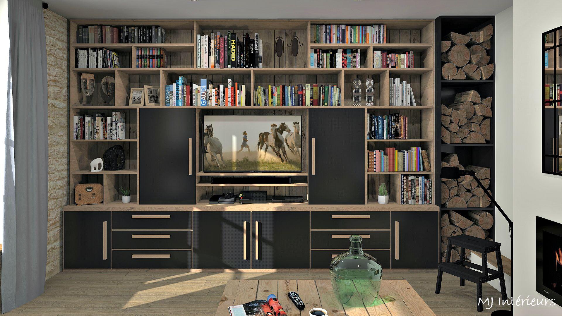 Meuble tv bibliotheque porte coulissante - Porte coulissante salle a manger ...