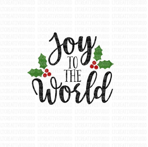 Download Joy To The World SVG Winter SVG Christmas SVG Silhouette ...