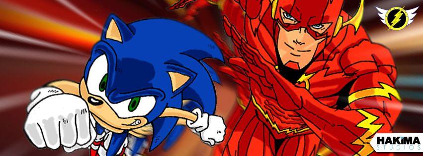 Sonic Vs The Flash Facebook Cover Art Version 3 Hakima Studios In 2020 Cover Art Sonic The Flash