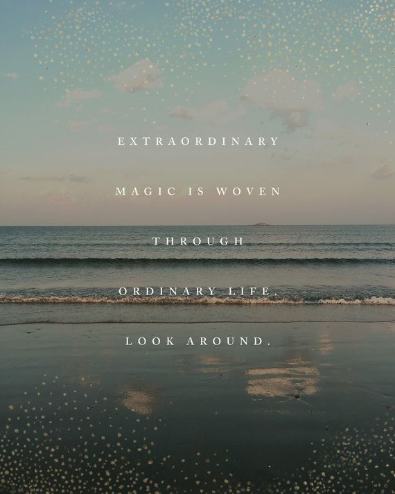 Beach quote print extraordinary magic poetry poster beach