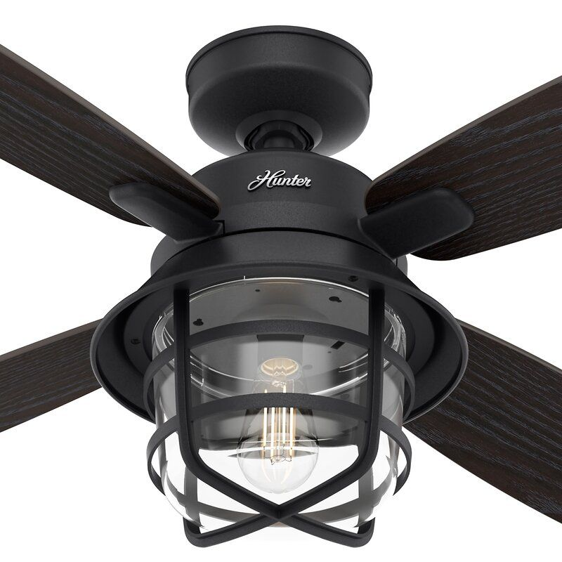 52 Port Royale 4 Blade Standard Ceiling Fan With Remote Control And Light Kit Included In 2021 Outdoor Ceiling Fans Ceiling Fan Ceiling Fan With Remote Outdoor ceiling fan with light kit