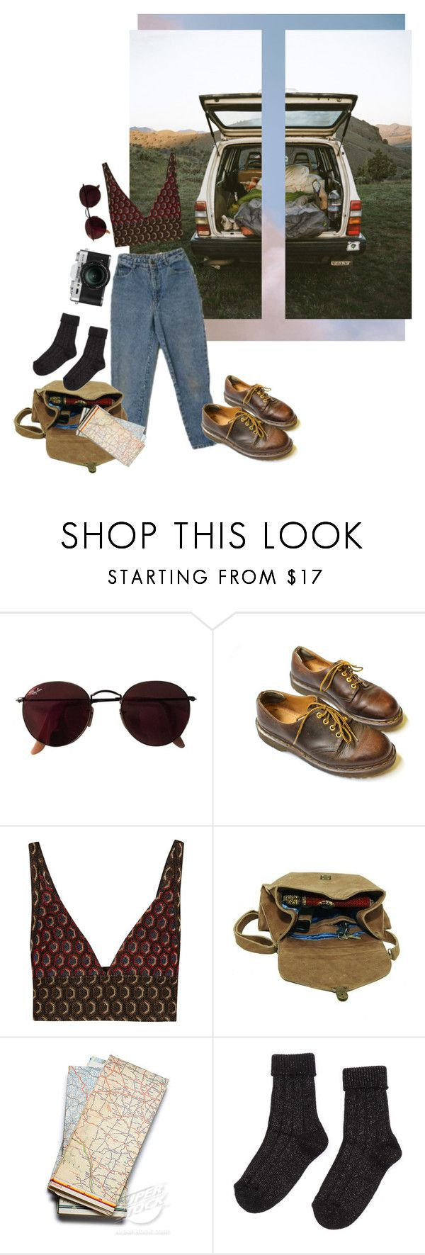 """give or take"" by confuseme ❤ liked on Polyvore featuring Ray-Ban, Dr. Martens, Marni, Maison d'usQ and Fuji"
