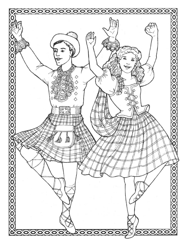Dancers coloring book costumes for coloring   plantillas bordado ...