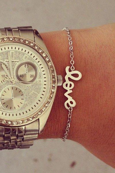 Silver Love Bracelet.