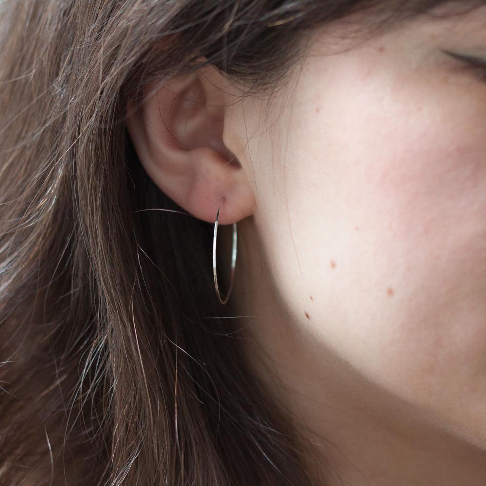 bee4ae36a8602 Big Hoop Dream Earrings, Silver in 2019 | JEWELRY | Hoop earrings ...