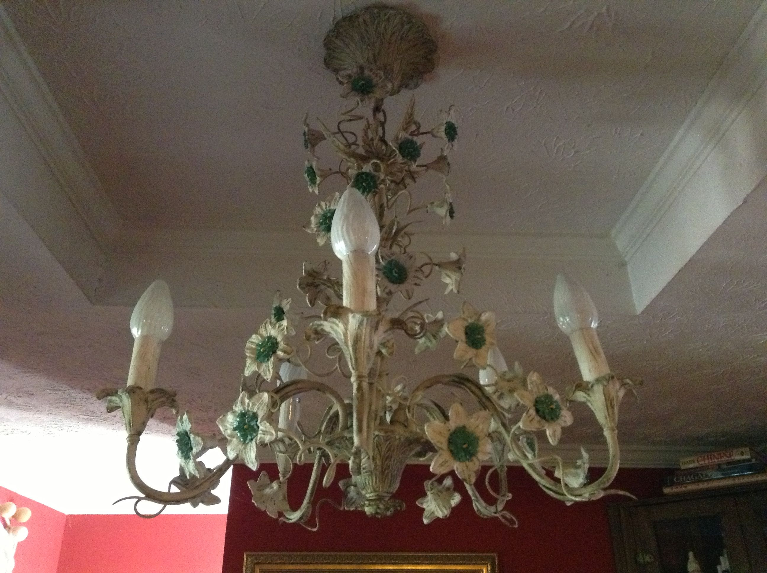 Cool funky chandelier my husband s great aunt gave us