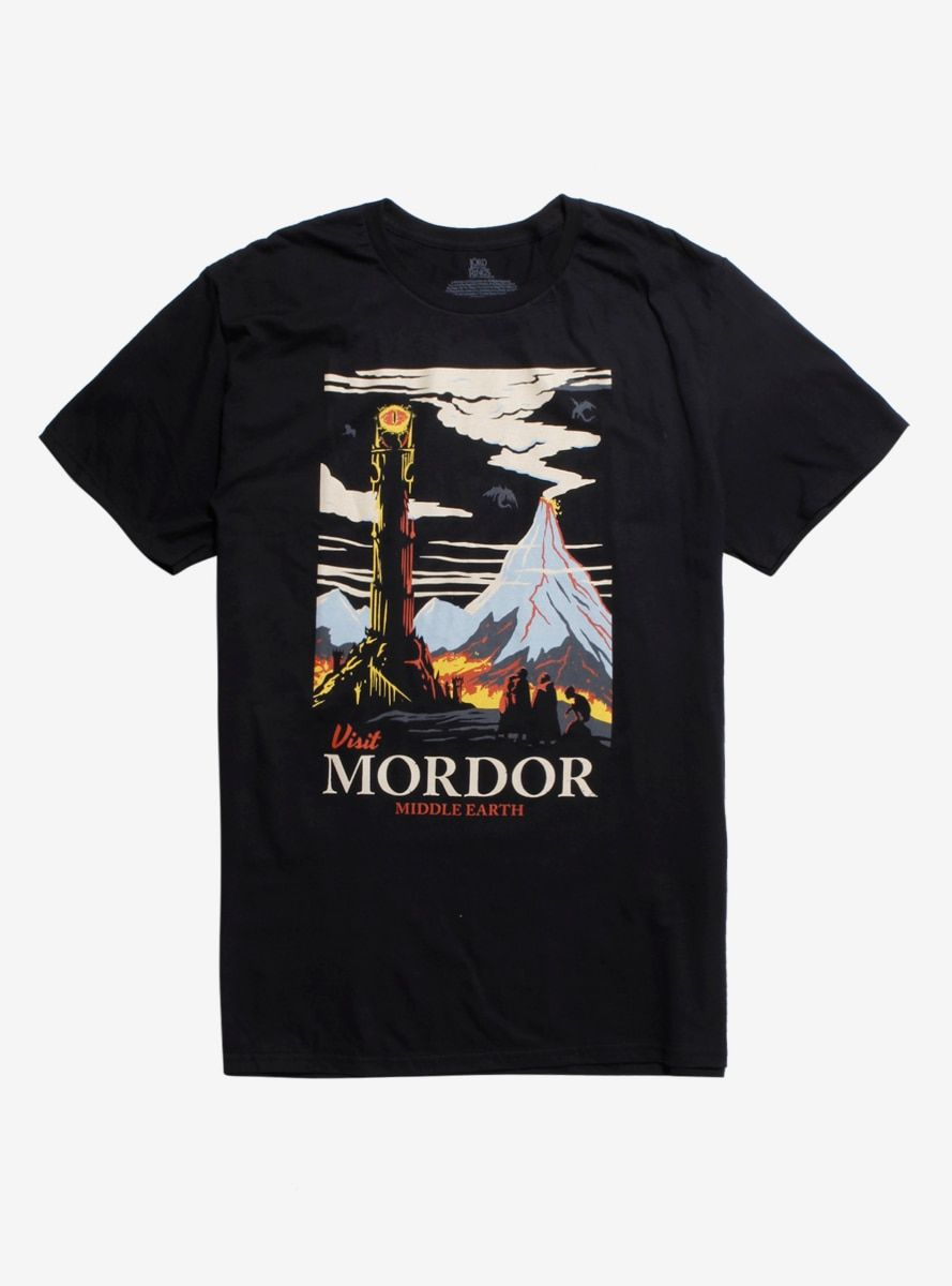 The Lord Of The Rings Visit Mordor T Shirt In 2020 Mordor Lord Of The Rings Shirts