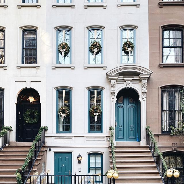 Nothing better than a wreath in every window uppereastside christmasinnewyork