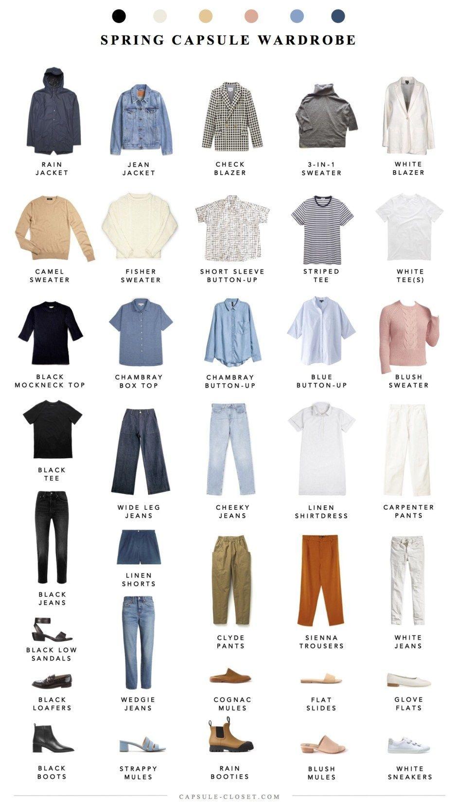 Spring 2019 Capsule Wardrobe Spring 2019 Capsule Wardrobe – CAPSULE CLOSET