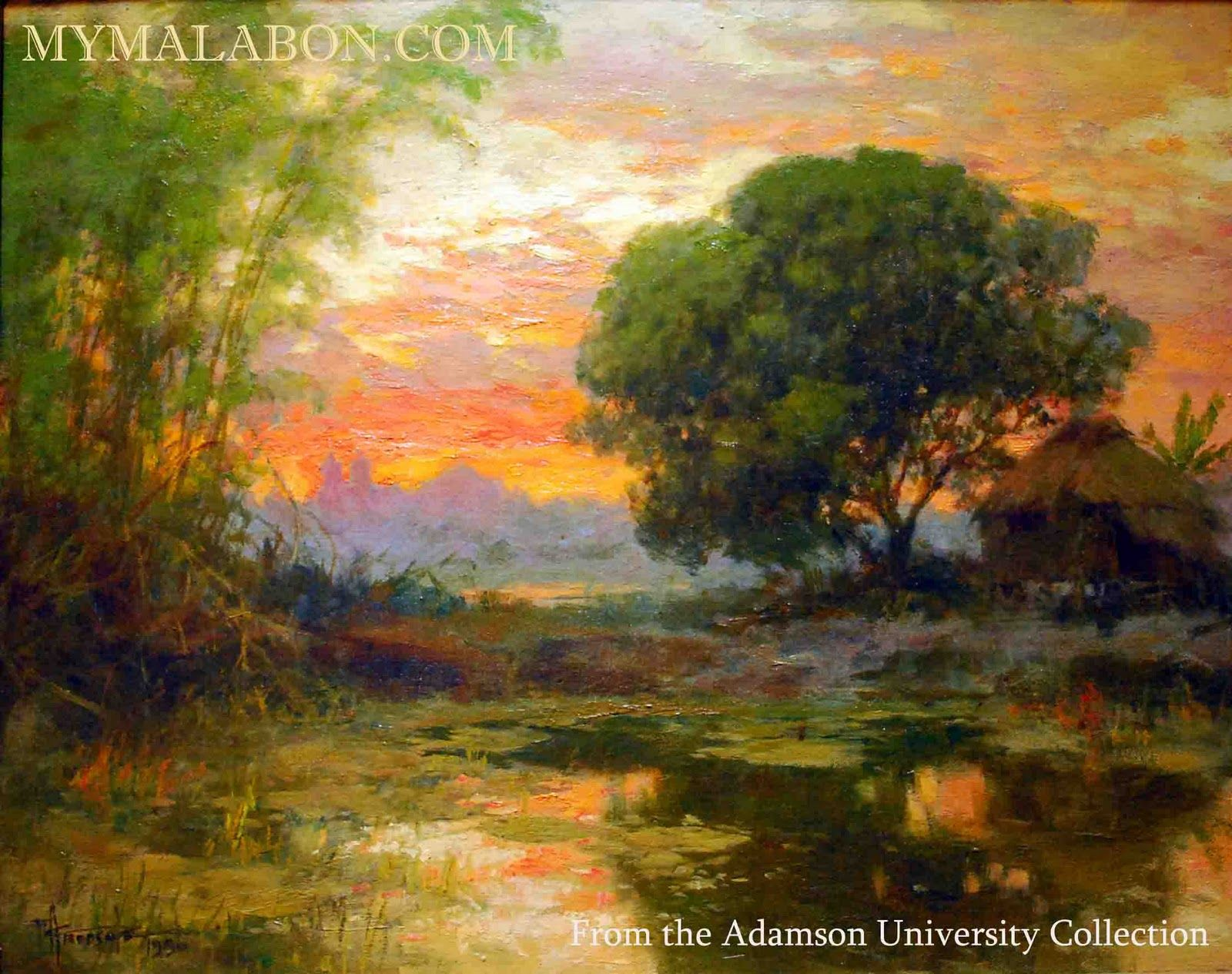 Philippine Landscape painting by Fernando Amorsolo IT'S