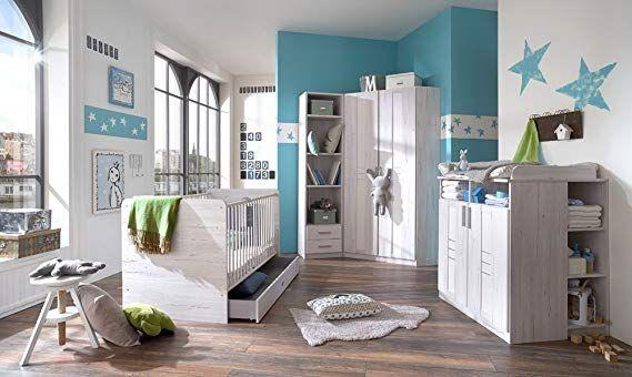 3 Tlg Babyzimmer In Weisseiche Nachbildung Und Icy White