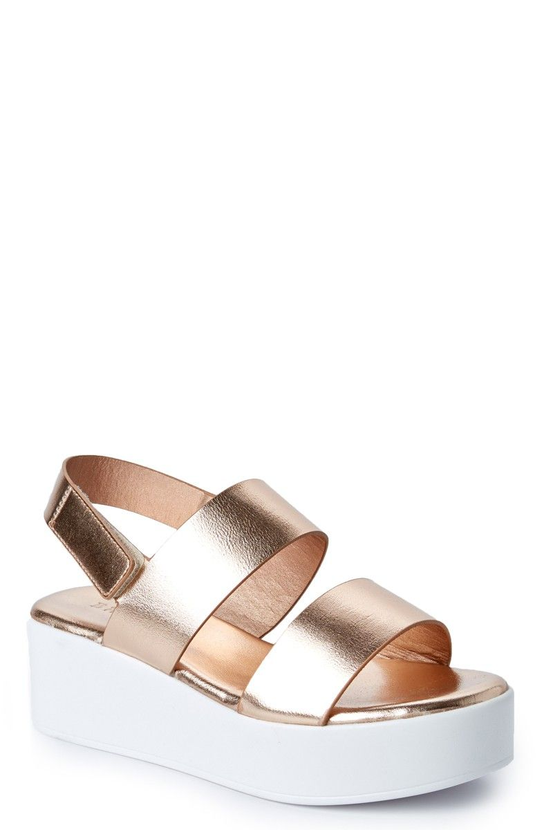 1aeb74f538c It s time to be Stepping Out in style in these oh-so-delicious Rose Gold Platform  Sandals. Just picture everything in your closet that will go with these ...