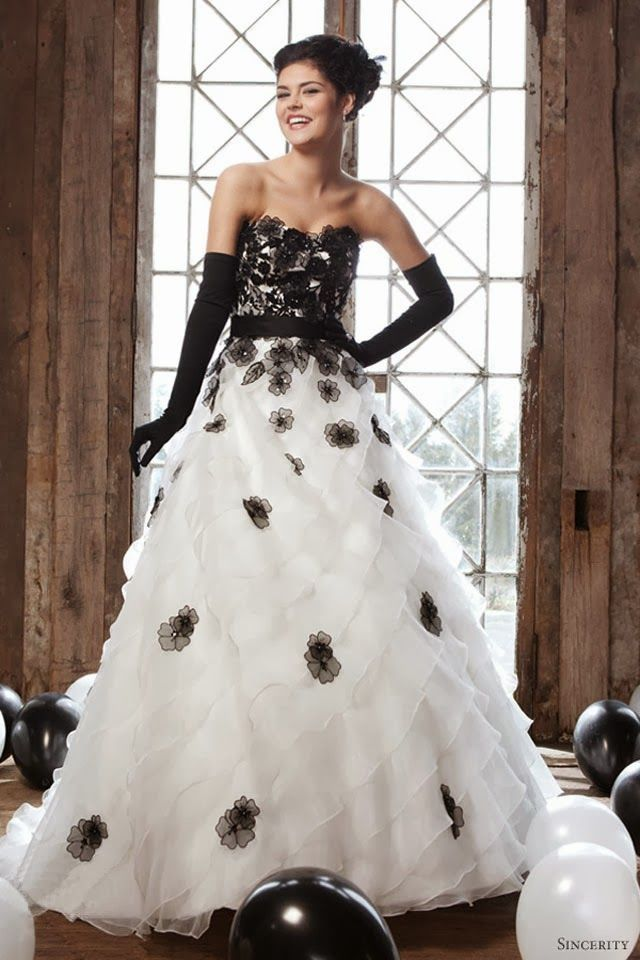 Black And White Wedding Dress Ball Gown, Top 10 Black And White ...