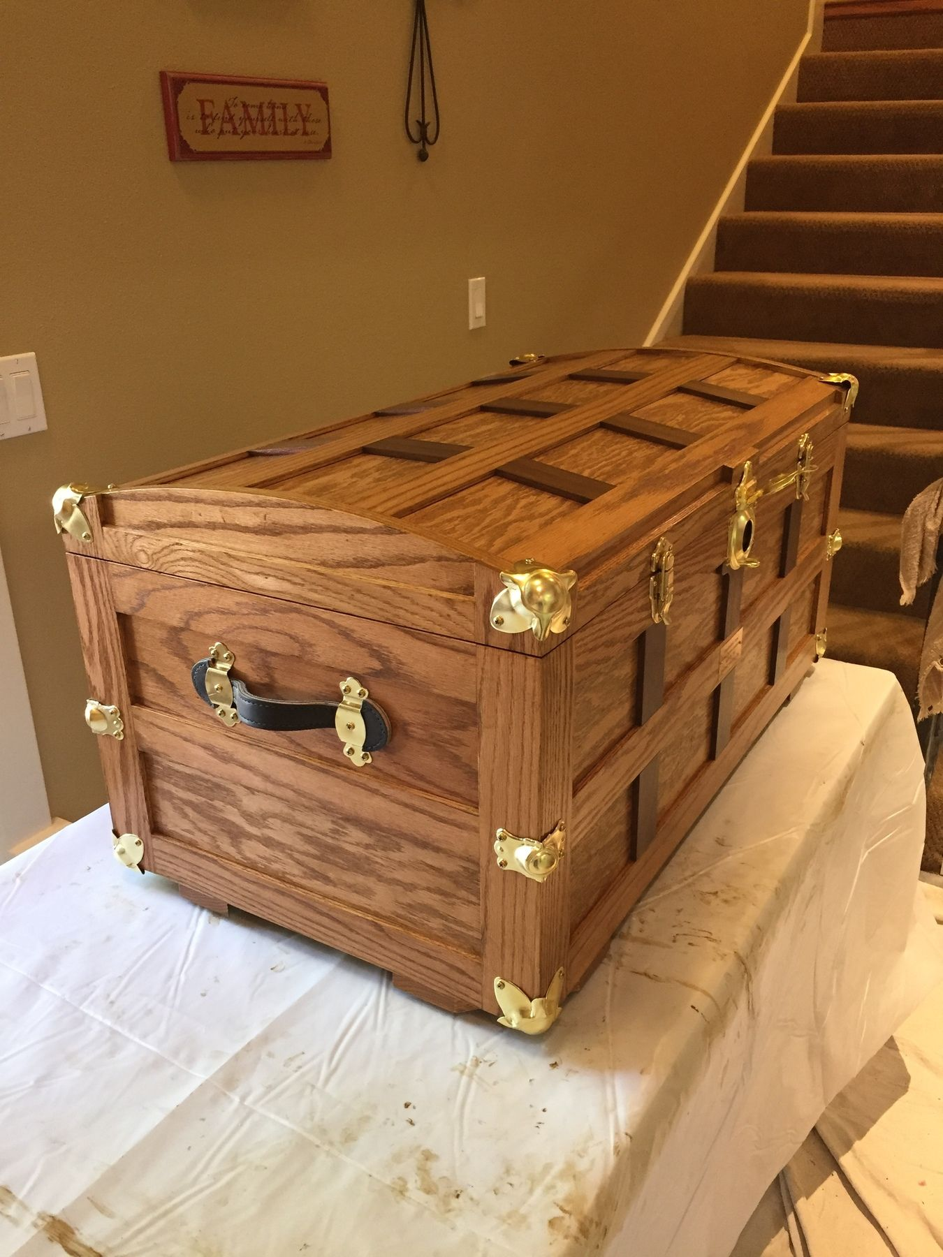 Beautiful Rockler customer trunk project. | DIY Trunk / Chest Projects & Plans | Woodworking ...