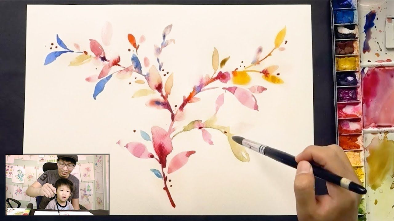 How To Paint Leaves In Watercolor Painting Tutorial For