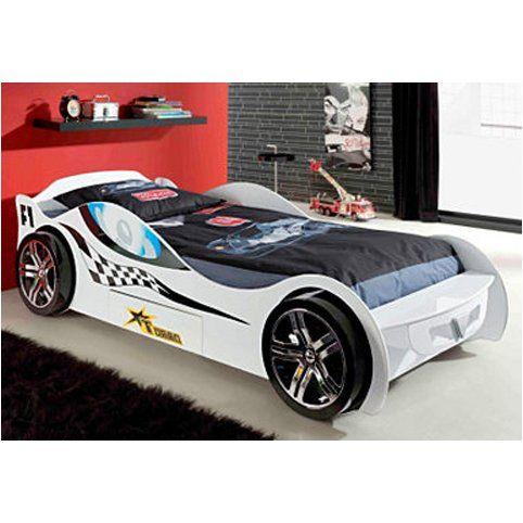 lit voiture de course enfant 1 tiroir vipack prix promo lit enfant 3 suisses 47900 - Lit Voiture Enfant