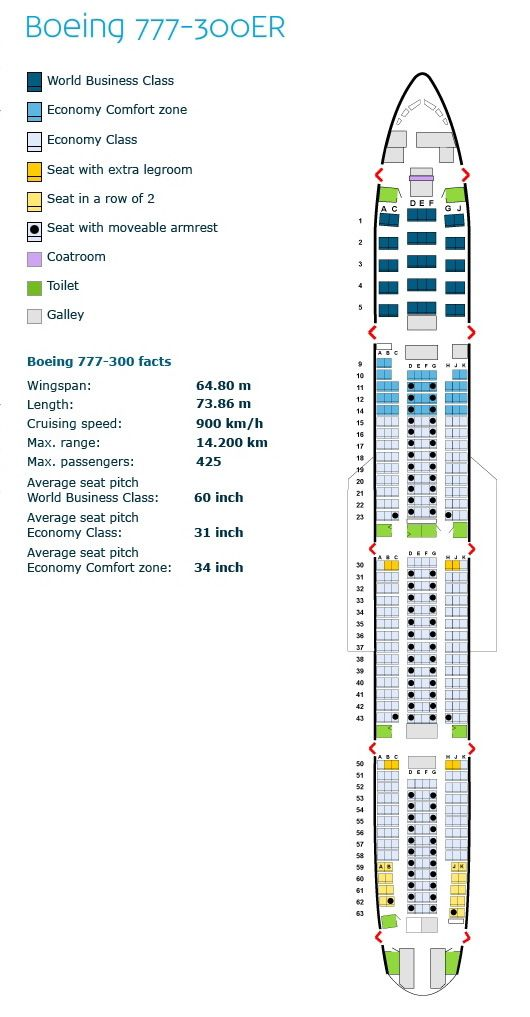 Klm royal dutch airlines boeing er aircraft seating chart also rh pinterest