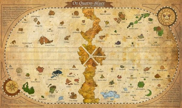 One Piece Theory The Raftel Map Animoc Carte Du Monde Cadre Deco Carte