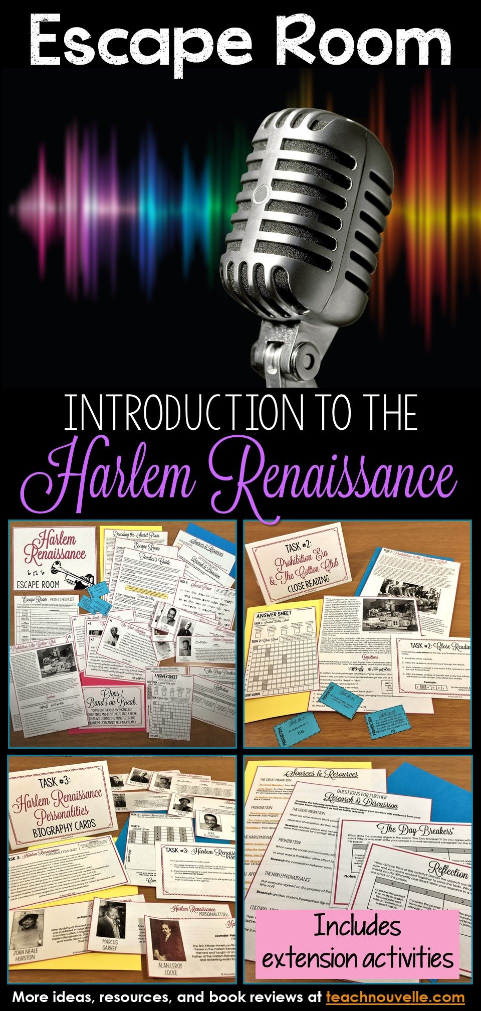 Introduction to the Harlem Renaissance Escape Room ...