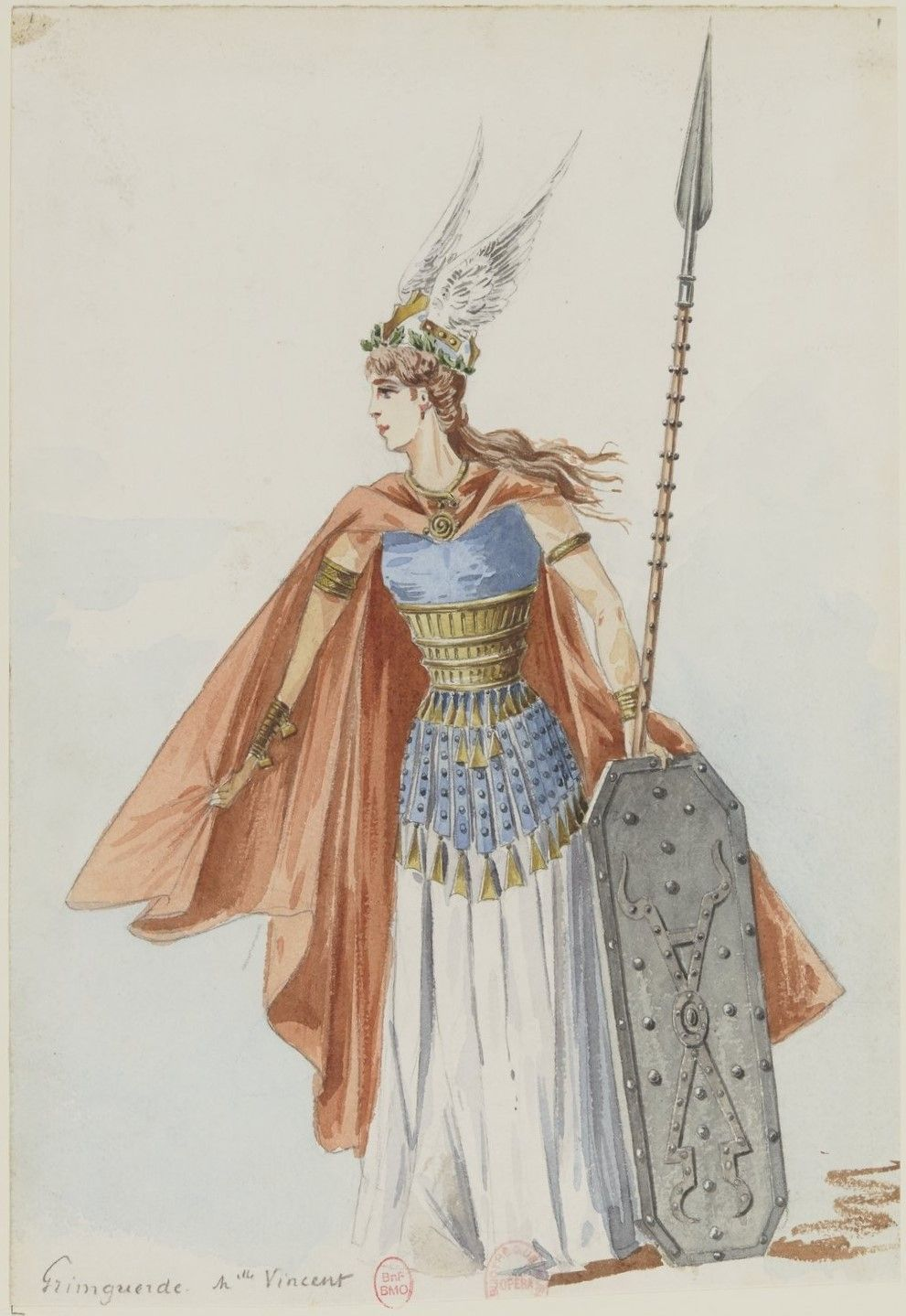Costume Design 1893 By Charles Bianchini 1860 1905 For Grimgerde In Die Walkure 1856 By Richard Wagner 1813 1883 Costume Valkyrie Walkyrie Costume
