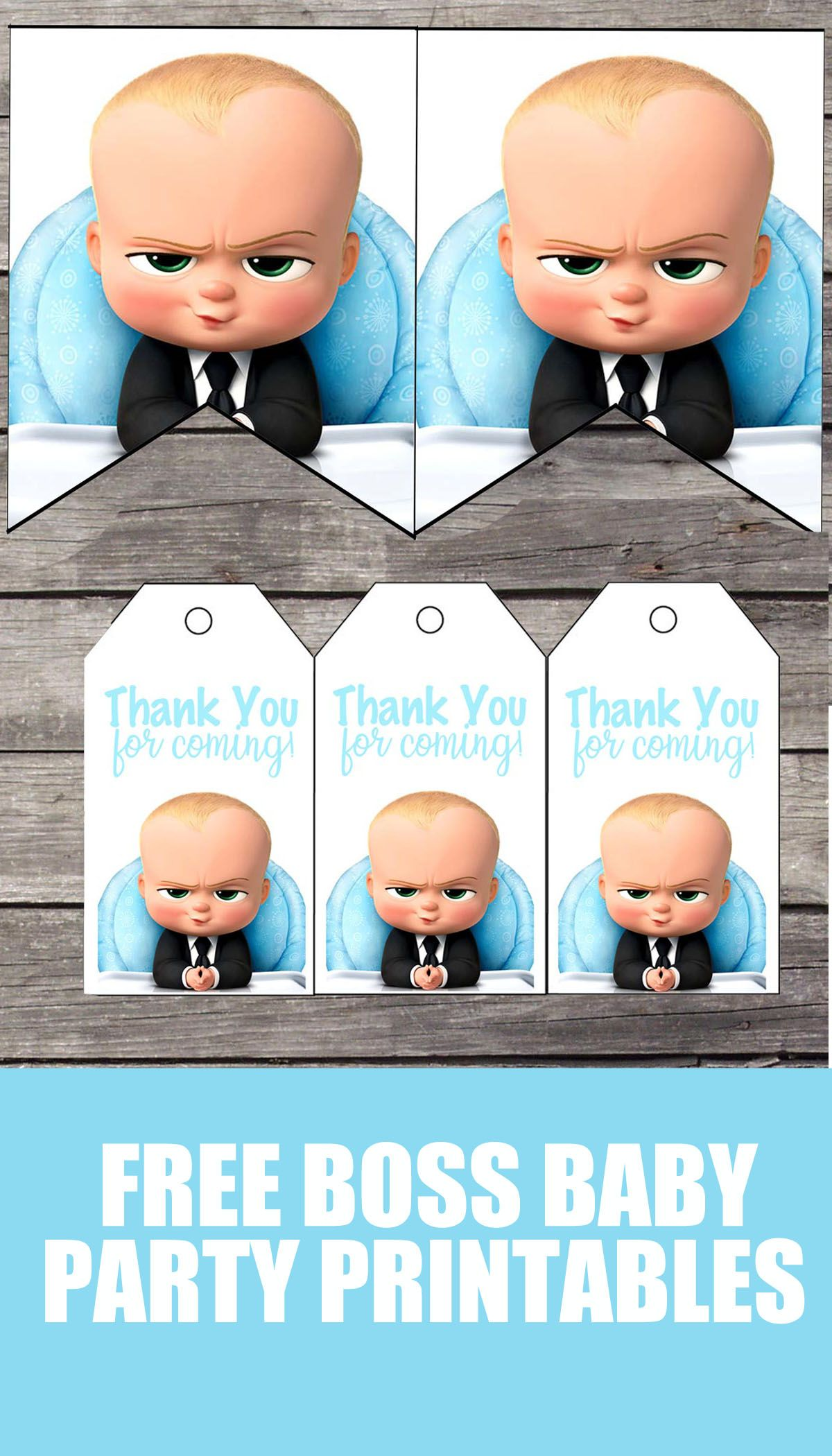 image relating to Boss Baby Printable named Free of charge Manager Kid Birthday Occasion Printable Data files Banner