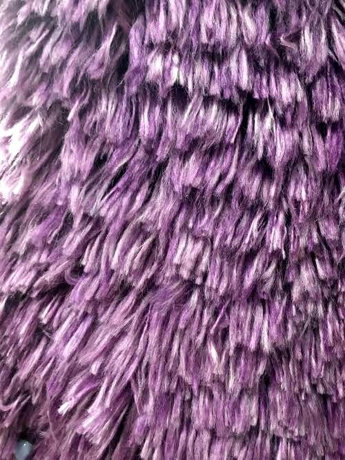 Fuzzy purple carpet! This would make such a fun statement in a neutral space with purple accents! #texture #interiordesign