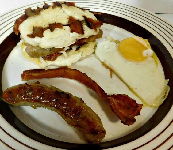 Bacon Pancake Sandwiches | Award-Winning Paleo Recipes ...  |Bacon Pancakes Sandwich
