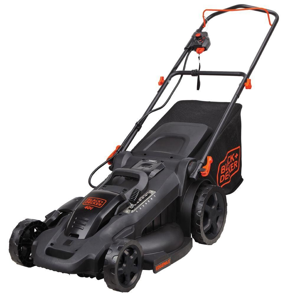 Black Decker 20 In 40v Max Lithium Ion Cordless Walk Behind Push Lawn Mower With 2 2 0ah Batteries And Charger Included Cm2045 The Home Depot Push Lawn Mower Walk Behind Mower Cordless Lawn
