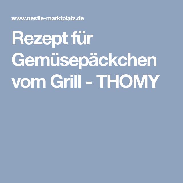 Rezept für Gemüsepäckchen vom Grill - THOMY